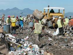Informal recycling at the landfill Gramacho in Brazil