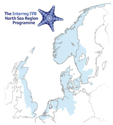 Link to Website, Map of the Interreg IVb North Sea Region