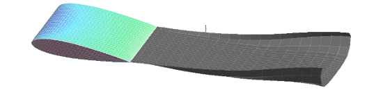 3-D Airfoil without Cavitation