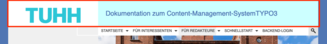 Screenshot: Kleiner Header